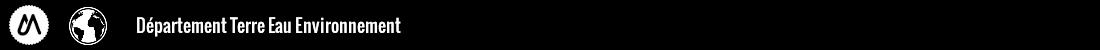 Département d'enseignement des sciences de la terre, de l'eau et de l'environnement Logo